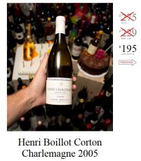 2005 Henri Boillot Corton Charlemagne. Retail: $275, LBW: $195