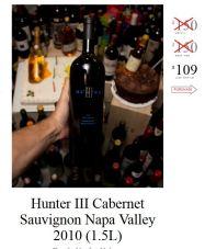Hunter III Cabernet Sauvignon