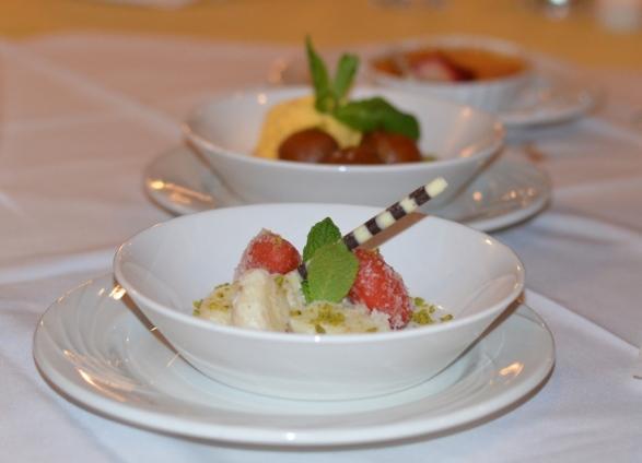 Assorted deserts at Tawa Restaurant