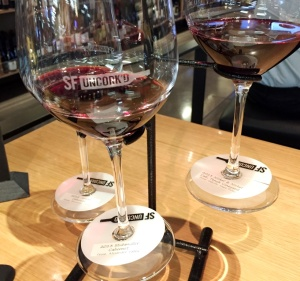 wine flight at SF Uncork'd