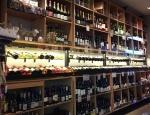 wine shelves at SF Uncork'd