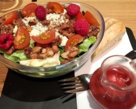 raspberry pecan salad at SF Uncork'd