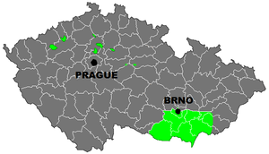 Czech wine regions. Source: Wikipedia