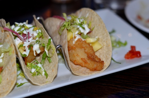 fish tacos at the Sign of the Whale