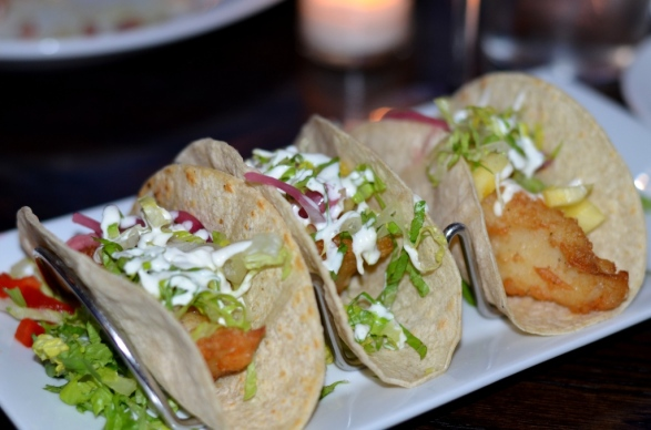 haddock fish tacos at the Sign of the Whale