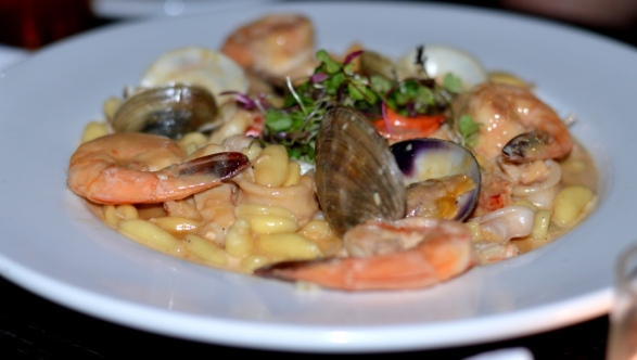 Seafood Cavatelli at the Sign of the Whale