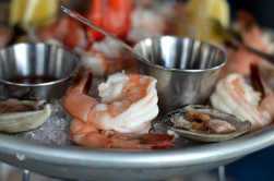 Seafood Tower - shrimp at the Sign of the Whale