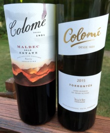 Colome Malbec and Torrontes