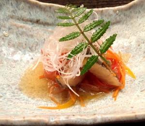 Fried fish salad at Nobu