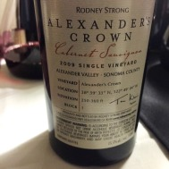 Rodeny Strong Alexander's Crown back label