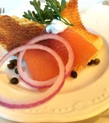House-smoked Salmon Napoleon
