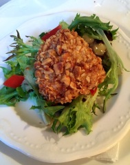 Warm Hazelnut Crusted Goat Cheese