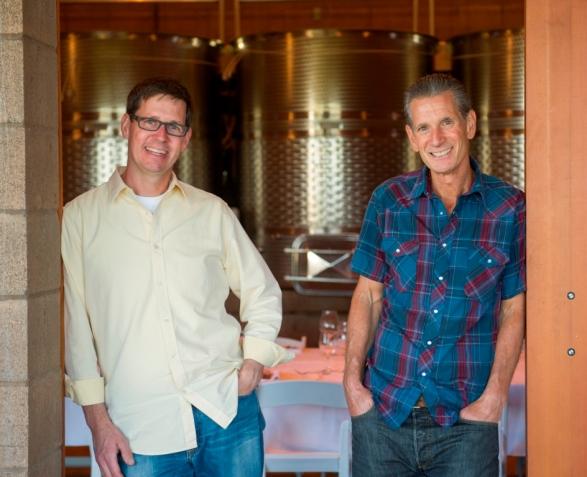 Winegrower and Proprietor David Nemarnik and winemaker Tom Fitzpatrick