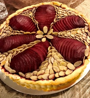 pear almond tart