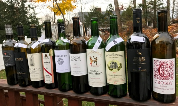 cabernet wines from the blind tasting