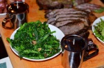 dirty tomahawk steak sides - broccoli rabe at Tavern 489
