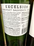 excelsor cabernet sauvignon back label