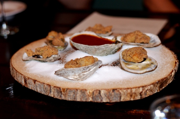 Taunton bayfried oysters at Tavern 489