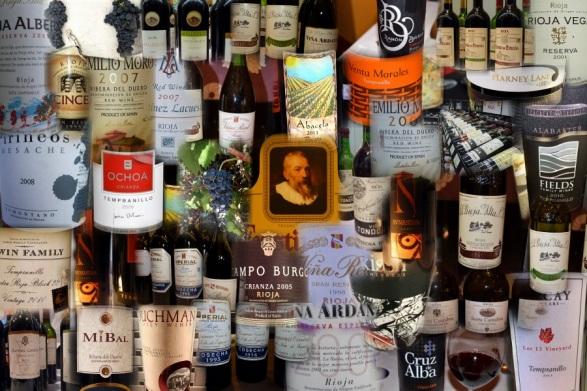 Tempranillo wines collage