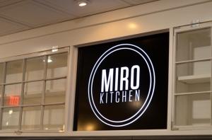 Sign at MIRO Kitchen