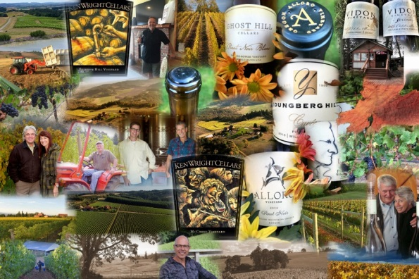 Passion and Pinot series photo collage