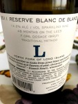 Lieb Cellars Blanc de Blancs Back Label