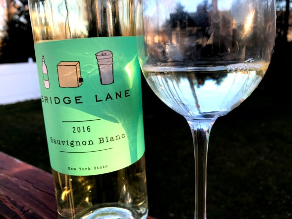 Bridge Lane Sauvignon Blanc with the glass
