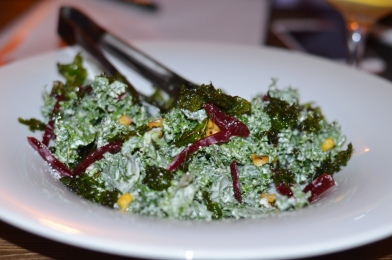 kale salad at Peaches