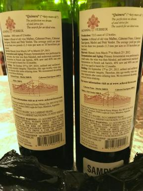 Achaval -Ferrer wines back labels