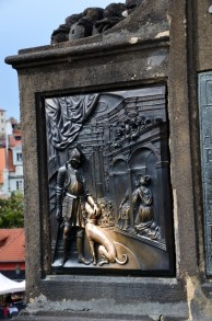 St. John of Nepomuk on Charles Bridge Prague - fragment