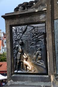 St. John of Nepomuk on Charles Bridge Prague - fragment