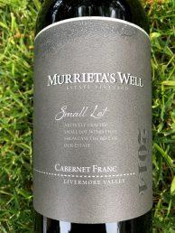 Murrieta's Well Cabernet Franc