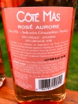Paul Mas Rose Aurore Back Label