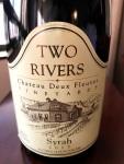 Two Rivers Syrah Mesa County