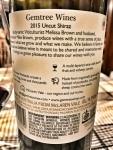 Gemtree Shiraz Back Label