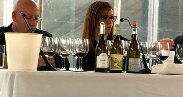 Gretchen Thomas at the rare grapes seminar Spain's Great Match