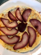 Crepes with pears