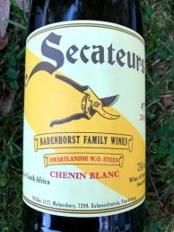 Badenhorst Family Wines Secateurs Chenin Blanc Swartland