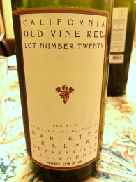 Marietta Old Vine Red Lot Number twenty