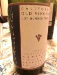 Marietta Old Vine Red sidelabel