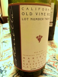 Marietta Old Vine Red side label