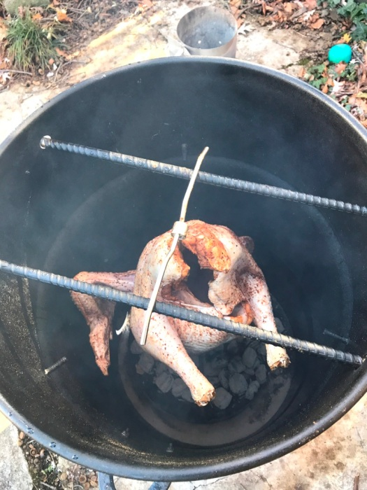 Smoking turkey - the beginning