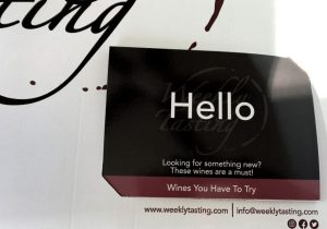 WTSO weekly tasting