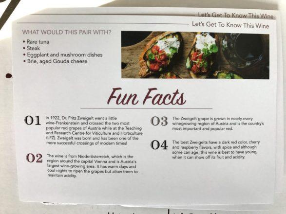 WTSO Weekly tasting info card