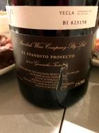 Standish 'El Standito Proyecto' Garnacha Tintorera, Yecla, Spain back label