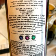 Messina Hof Reflections of Love back label