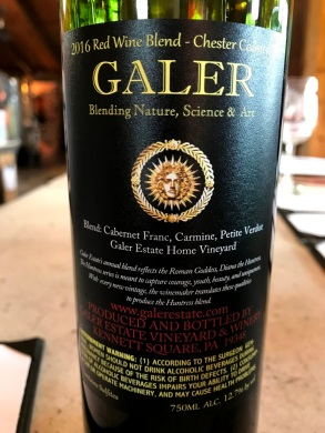Galer Estate The Huntress Red back label