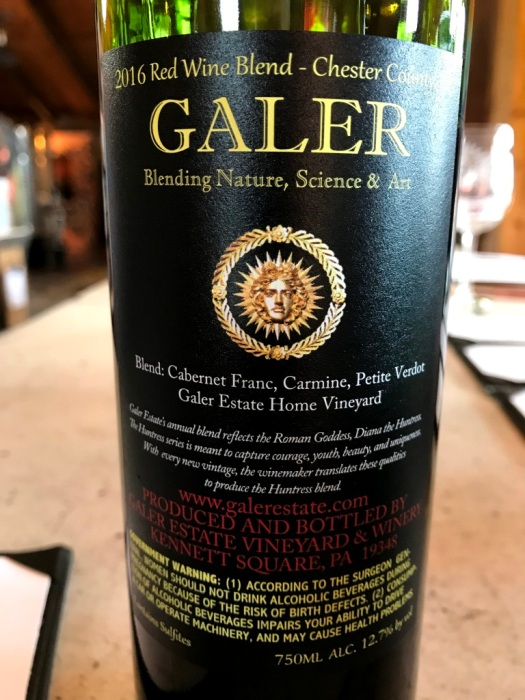 Galer Estate The Huntress Red back label