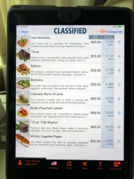 CLASSIFIED menu