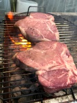 Steak on the grill